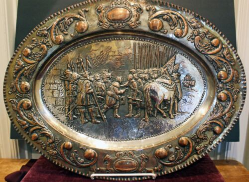 Diego Velazquez, THE SURRENDER OF BREDA  Silver Plate & Copper Charger