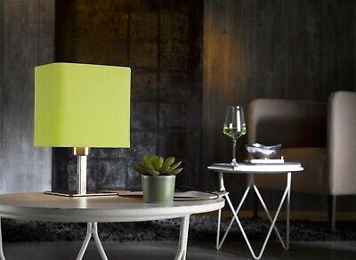 Pequeño Lámpara de Mesa Pantalla de Tela Claro Verde Salón E14 También...