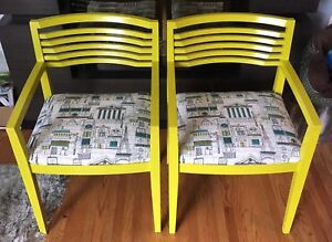 Set Of Solid Wood Accent Chairs
