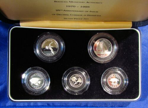 Bermuda 1995 Silver Proof Set  PSA14  Mintage 2,000 - All Silver Coins
