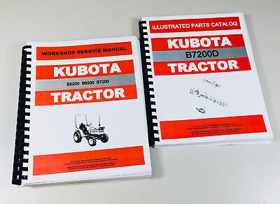 Kubota B7200d 4wd Tractor Service Repair Manual Parts Catalog Shop Set Ovhl