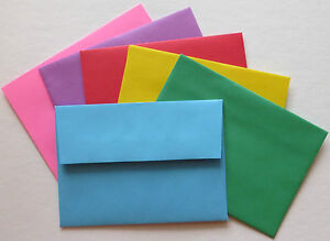 PE26  Color Envelopes A1 60# 3 5/8 x 5 1/8  Color Choice Response Envelopes