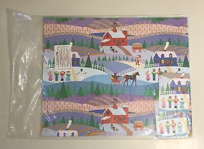Vintage Current, Inc. Christmas Village Super-Size Christmas Gift Wrap