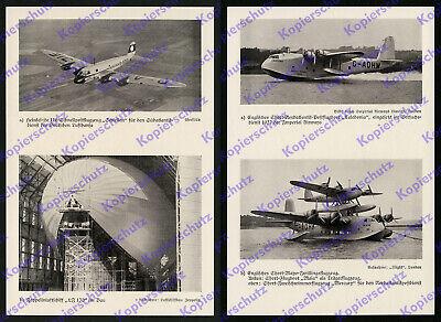 Reichspost Lufthansa DLH Luftpost Heinkel He 116 Schlesien LZ 130 Zeppelin 1938