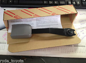 CAMRY FRONT SEATBELT BUCKLE LIGHT GREY 20/30 SERIES **TOYOTA GENUINE PARTS**