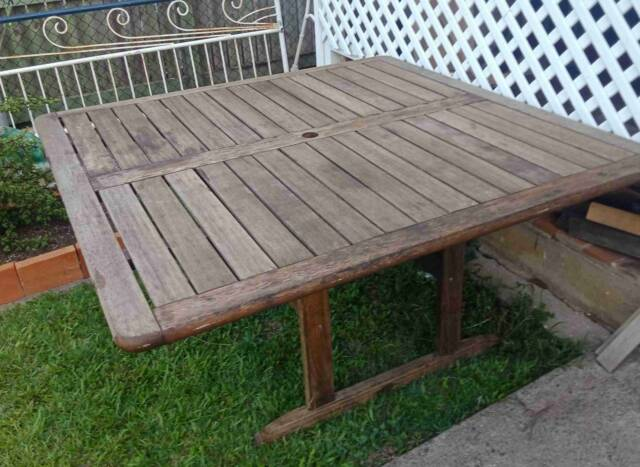 8 SEATER SQUARE TIMBER OUTDOOR DINING TABLE SOMERSET BRAND ...