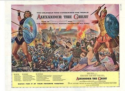 Vintage Movie Print ad Alexander the Great Richard Burton Fredric March 1956 ad