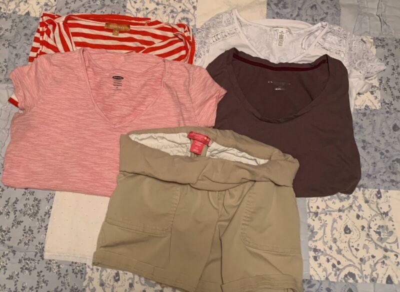 Maternity Clothes Size Medium 4 Shirts 1 Shorts