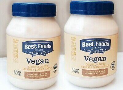 2 x 24 oz Jars VEGAN MAYO - Best Foods Dressing EGG FREE