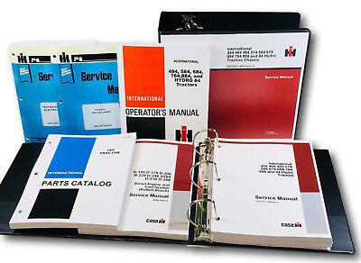 International 784 Diesel Tractor Service Repair Shop Operators Parts Manual Set