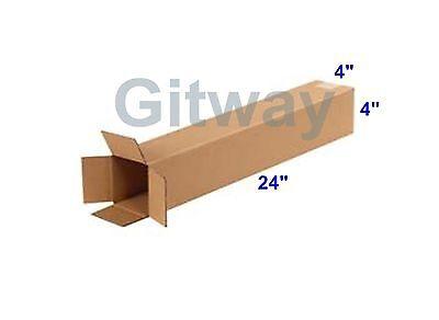 25 4x4x24 Corrugated Cardboard Shipping Mailing Moving Tube Box Boxes 24x4x4