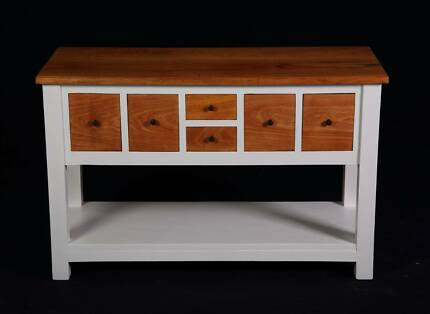 Lovely Rustic upcycled Mango wood Hampton style buffet,DEL AVAIL