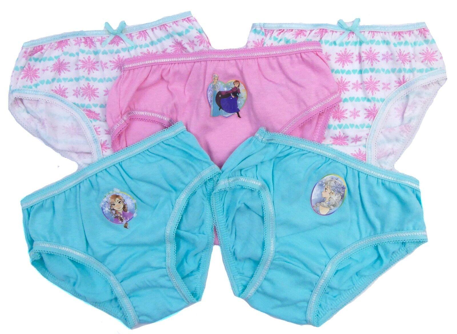 Girls Frozen briefs 3 pack underwear set cotton and boxer shorts