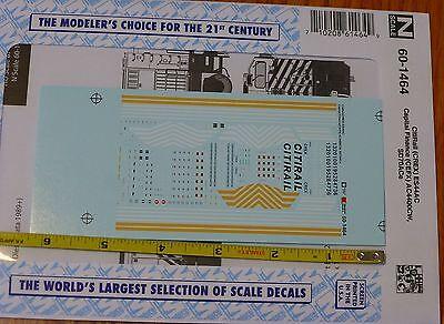 Microscale Decal N  #60-925 Data GE Dash 9-44CW and AC4400CW Diesels -D 1993+