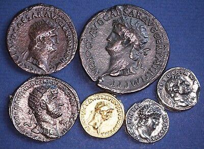 6 REPRODUCTION Roman coins, Sestertius, Dupondius, Aureus, Denarius etc [6MRC]