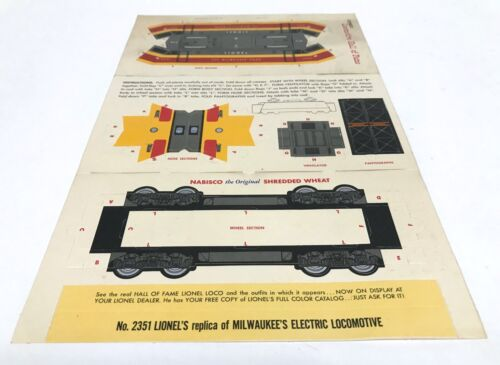 Postwar Lionel Nabisco Promo - Hall of Fame loco 2351 Milwaukee Electric