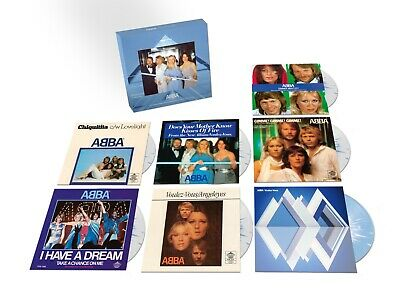 "Abba Singles Voulez Vous -  7"" Vinyl Coloured Singles Box New Sealed."