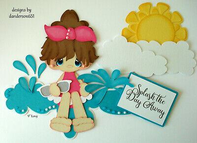SUMMER BEACH KIDS Die Cuts Paper Piecing PreMade 4 Border Scrapbook danderson651](Kids Summer Crafts)