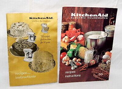 Vtg KitchenAid Mixers Owners Manual Lot 2 Golden Anniversary Recipe Book 1965 +
