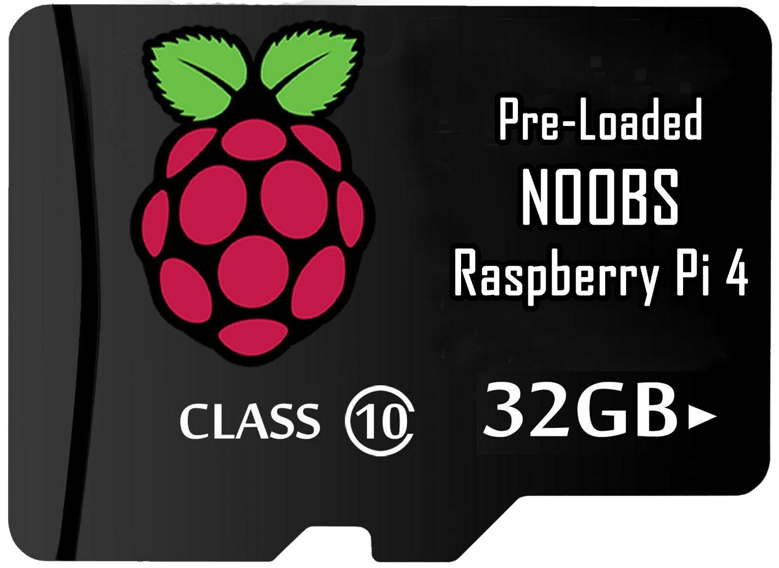 noobs sd card preloaded 32gb rasberry pi