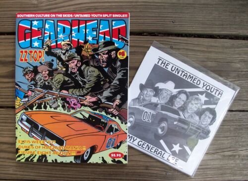 Dukes of Hazzard General Lee Dodge Charger Magazine & 45 Record Untamed Youth