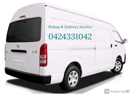 Van for pickup and delivery service with driver