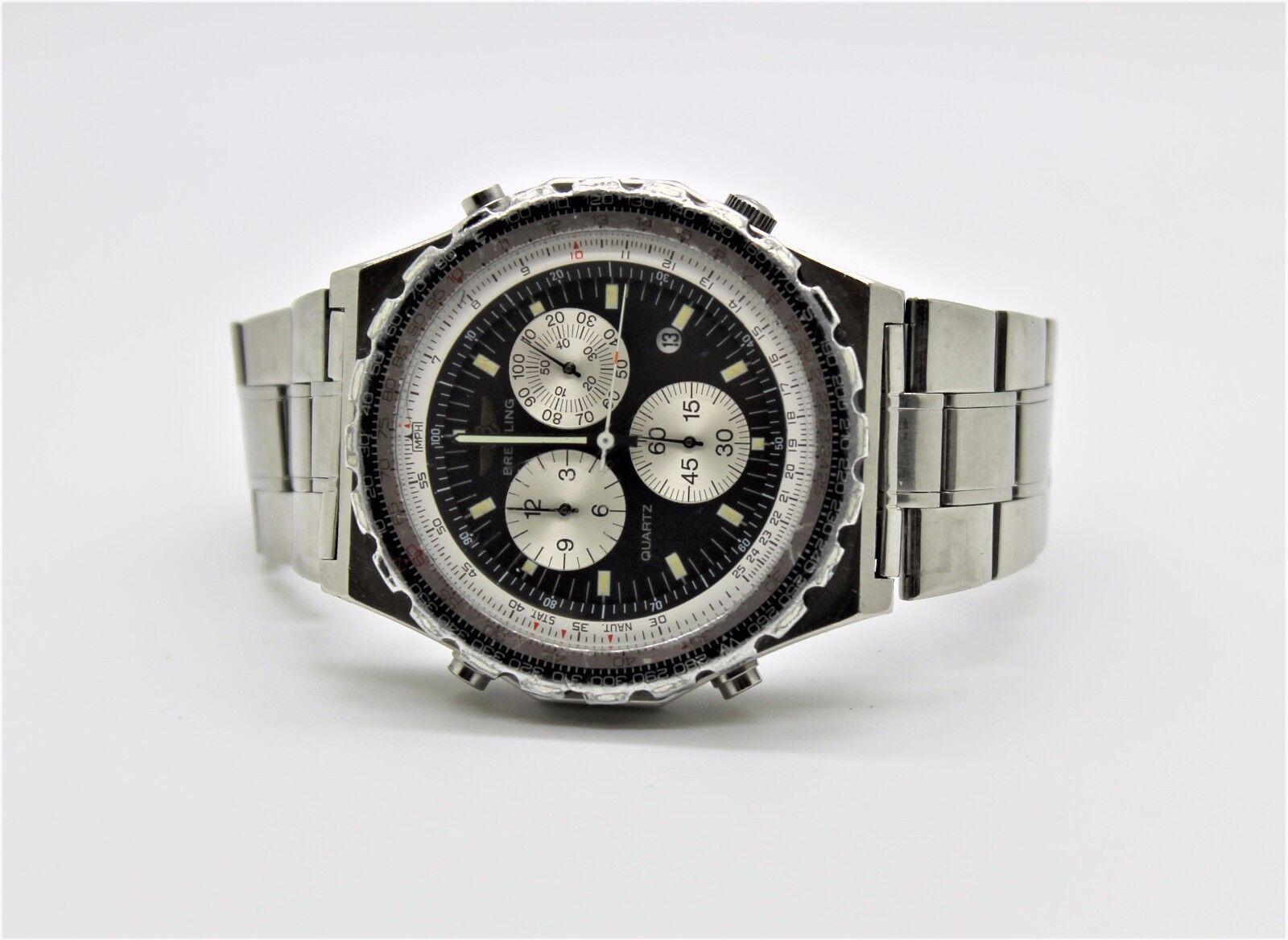 $1450.00 - Rare Breitling Navitimer - Jupiter Pilot's Chronograph Alarm Watch Model 80975