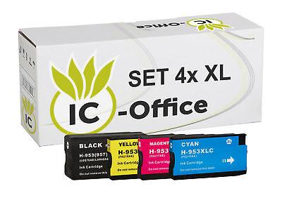 4 Druckerpatronen für HP 953 XL OfficeJet Pro 8210 8218 8710 8715 8720 8725 8730