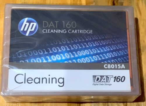 NEW- HP DAT 160 Cleaning Cartridge / C8015A C8015-60000 / FACTORY SEALED