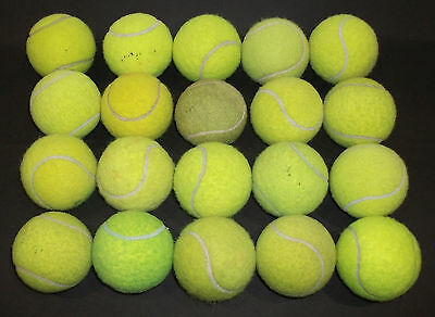 20 USED TENNIS BALLS FOR YOUR DOGS TO PLAY WITH