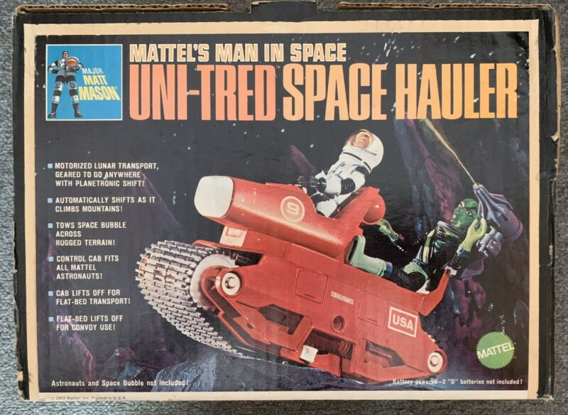 Vintage 1966 Mattel Major Matt Mason Uni-tred Space Hauler complete with box!