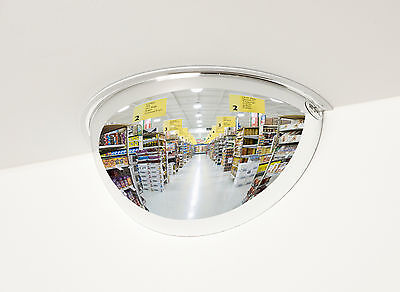 #1 Rated Industrial Half-Dome Convex Security Mirror, 18