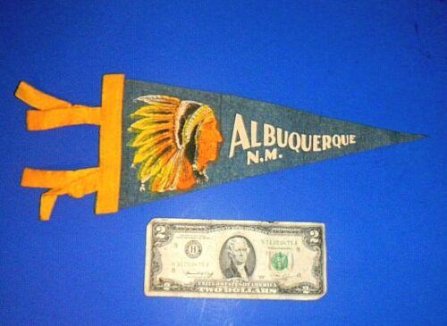 "Small Vintage Souvenir Pennant fm ""ALBUQUERQUE / N.M."" - 12"""