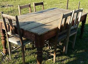 Large wooden table and 7 chairs Grafton Clarence Valley Preview