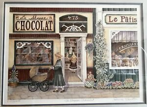"""La Shoppe Chocolat"" Limited Edition  Print by Janice Tanton"