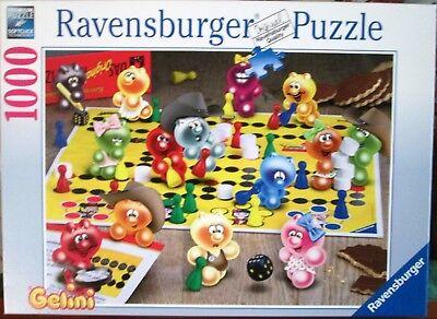 Zustand Puzzle (Ravensburger Puzzle GELINI Spieleabend bei Gelinis 1000 Teile Zustand wie neu)