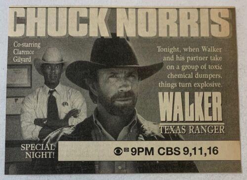1993 CBS tv ad ~ WALKER TEXAS RANGER Chuck Norris ~ toxic chemical dumpers