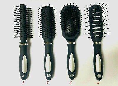 Luxus Wellness Haarbürste schwarz 16cm Rundbürste mit Noppen Reise Urlaub LU