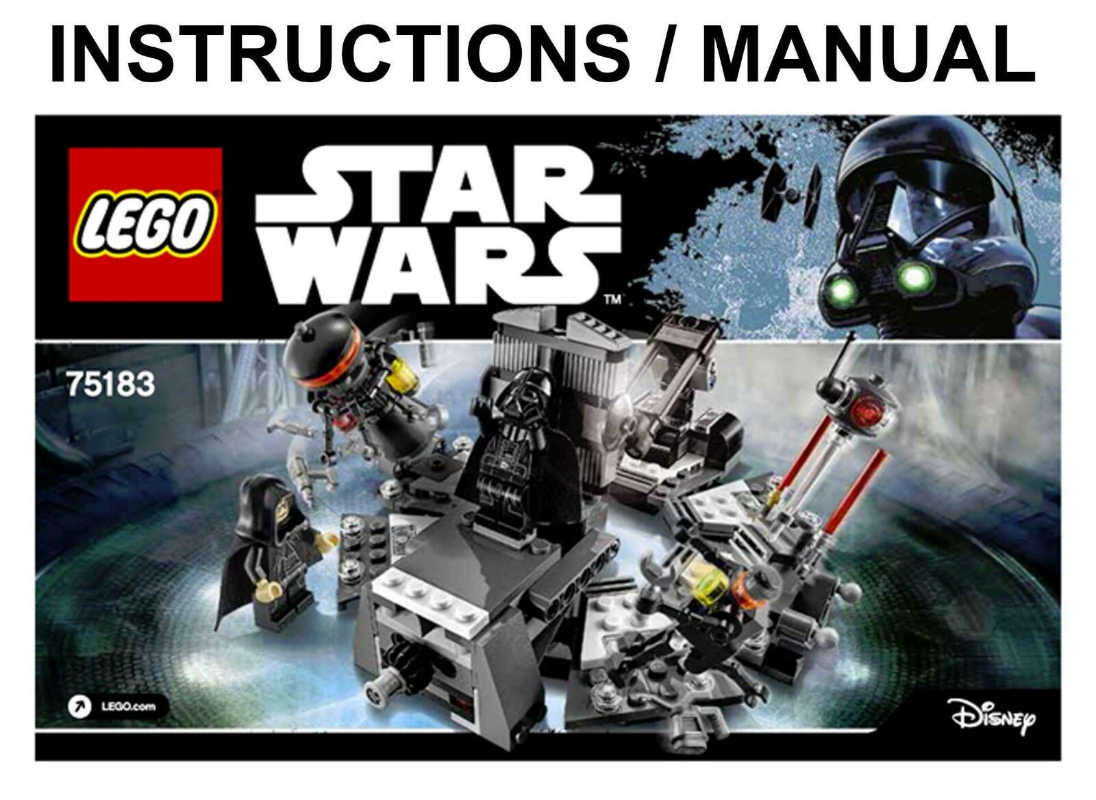 Lego Star Wars 75183 Darth Vader Transformation Instructions Only Ebay