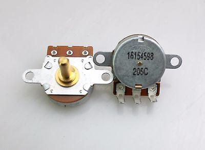 2 X 24mm Alps B10k 10k Linear Taper Potentiometer 30 Step 15mm Brass D Shaft