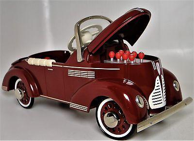 1 Pedal Car 1930S Buick Vintage Classic Sport Metal Midget Model W  Opening Hood