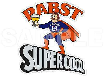 PABST BLUE RIBBON Supercool Superhero Cool Blue Beer Vinyl Sticker Decal](Blue Superhero)
