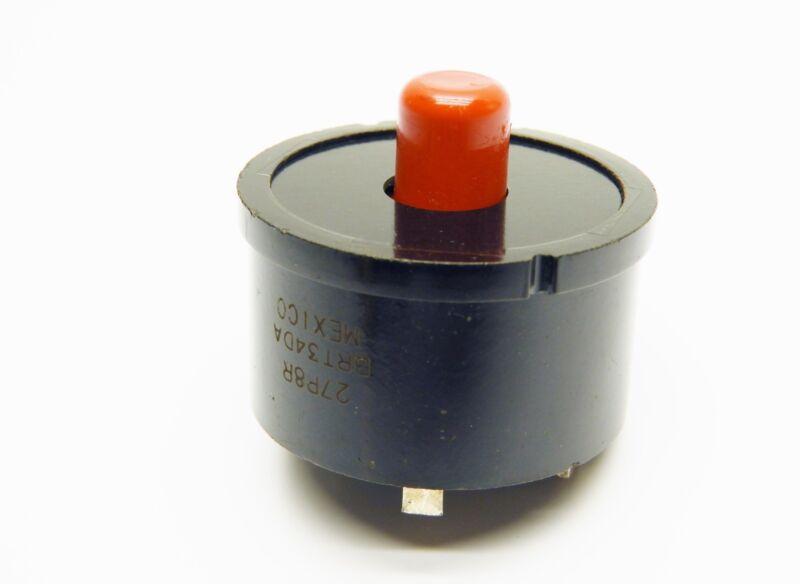 "Klixon BRT 34DA Phenolic Motor Protector Manual Reset, 1.5"", Round, Single Phase"