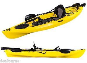 PRO DACE ANGLER PROWLER SINGLE OCEAN FISHING KAYAK SEA CONOE PACKAGE YELLOW