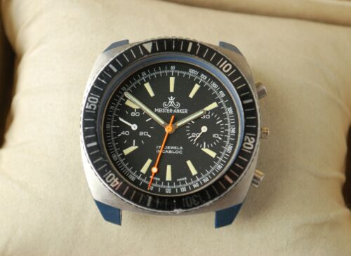 original MEISTER-ANKER CHRONOGRAPH VALJOUX 7733 Wrist Watch Case, DIAL, HANDS
