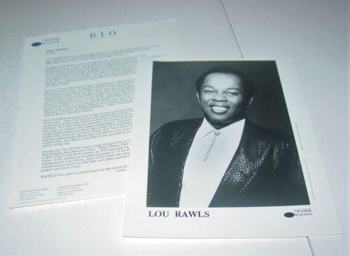Lou Rawls Original Press Photo w/ paperwork Blue R&B Soul Black Power BLM