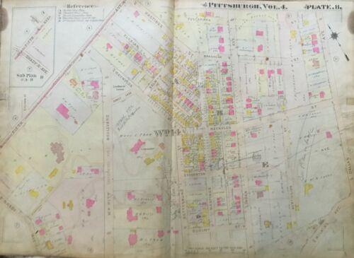 1911 POINT BREEZE PITTSBURGH PA MELLON ESTATE DALLAS TO FIFTH AV ATLAS MAP