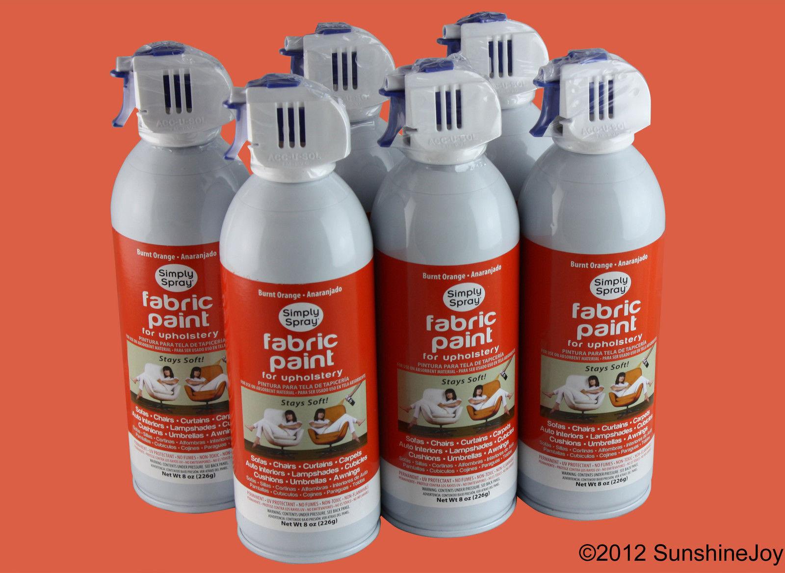 Upholstery Fabric Spray Paint 6 Pack Burnt Orange Simply ...