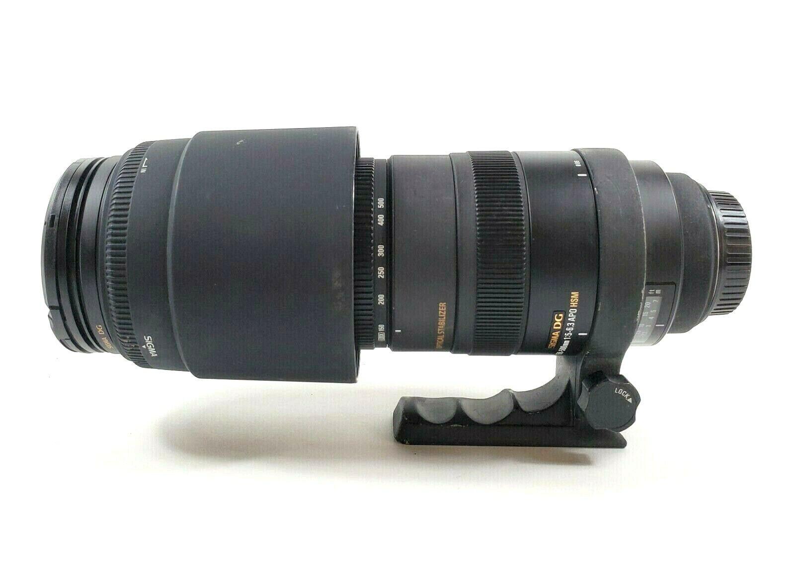 Sigma DG For Canon 150-500mm 1 5-6.3 APO HSM Lens Optical Stabilizer lot 5-3-24 - $415.00