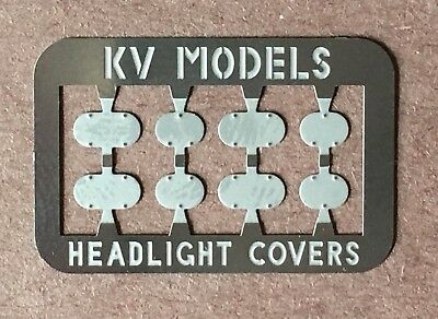 HEADLIGHT COVER PLATE SET SOUTHERN PACIFIC STYLE - HO SCALE KV MODELS KV-1014H Cover Plate Set